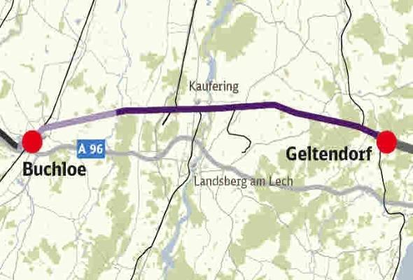Ausbaustrecke München – Lindau, ABS 48 Geltendorf – Lindau, VE 01 Geltendorf (e) – Buchloe (e), Los 1.2
