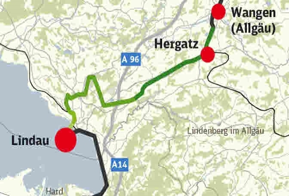 Ausbaustrecke München – Lindau, ABS 48 Geltendorf – Lindau, VE 06 Hergatz – Lindau